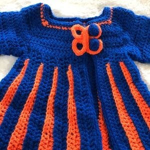 Crochet Cardigan Sweater Handmade 12M